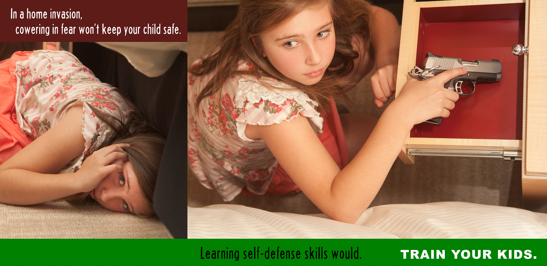 Children defend themselves with firearms more often than many realize.