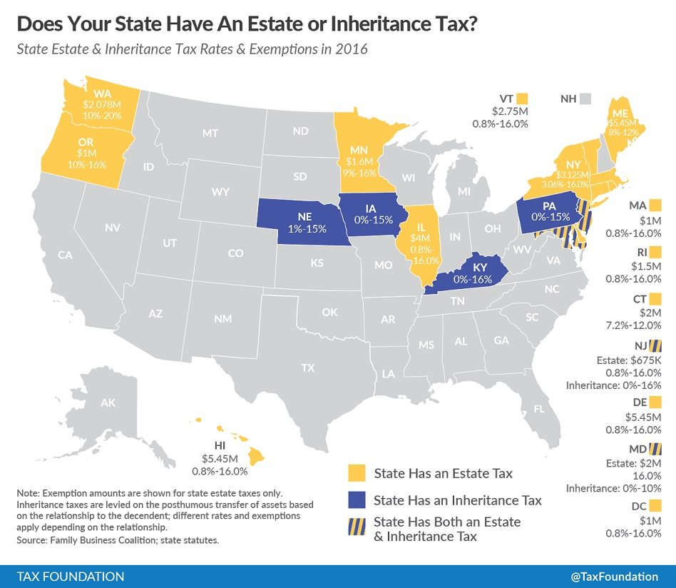 #AssetProtection: State Estate And Inheritance Tax Rates