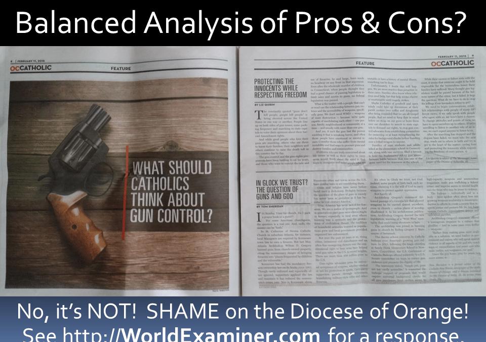 Orange County Catholic feature on guns