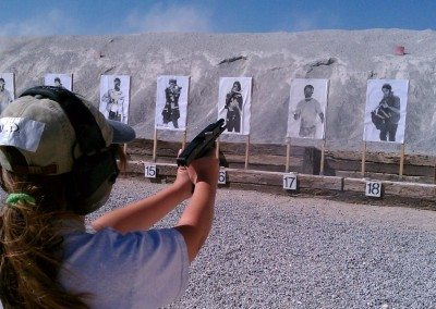 Ayn Duringer at Front Sight - handgun