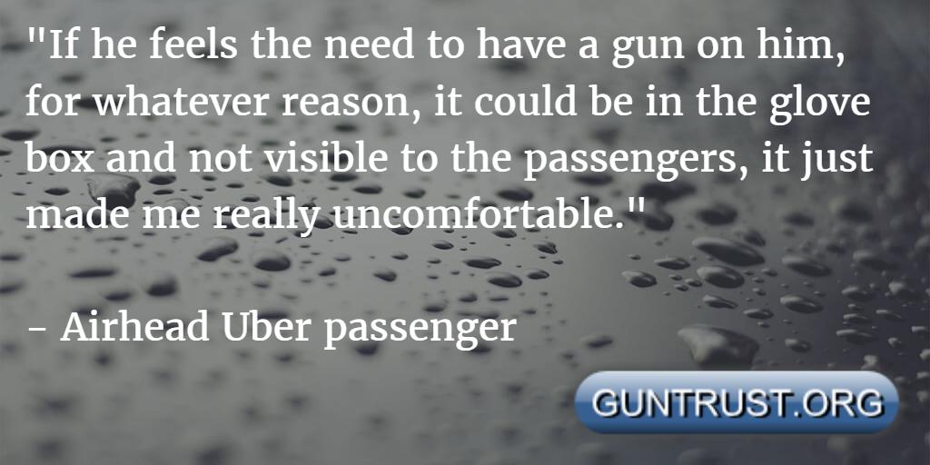 airhead uber passenger