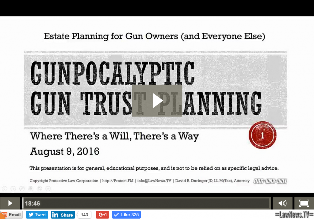 snip gunpocalyptic gun trust planning