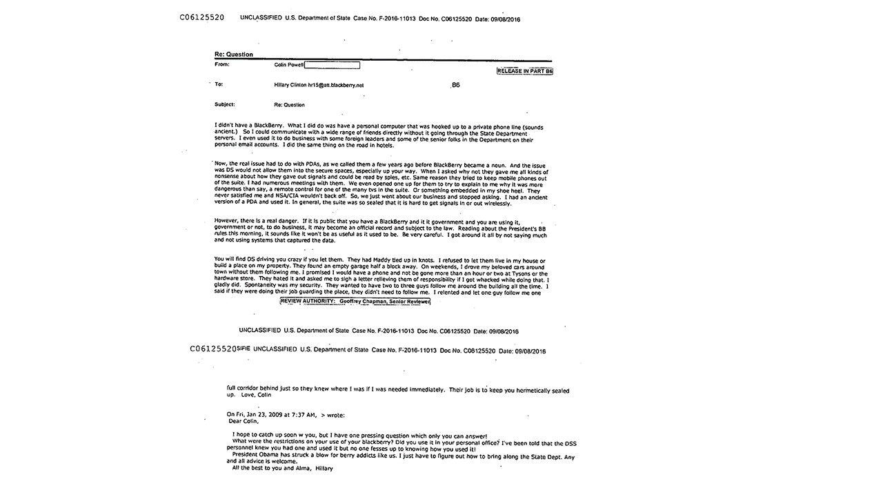 email colin powell to hillary clinton