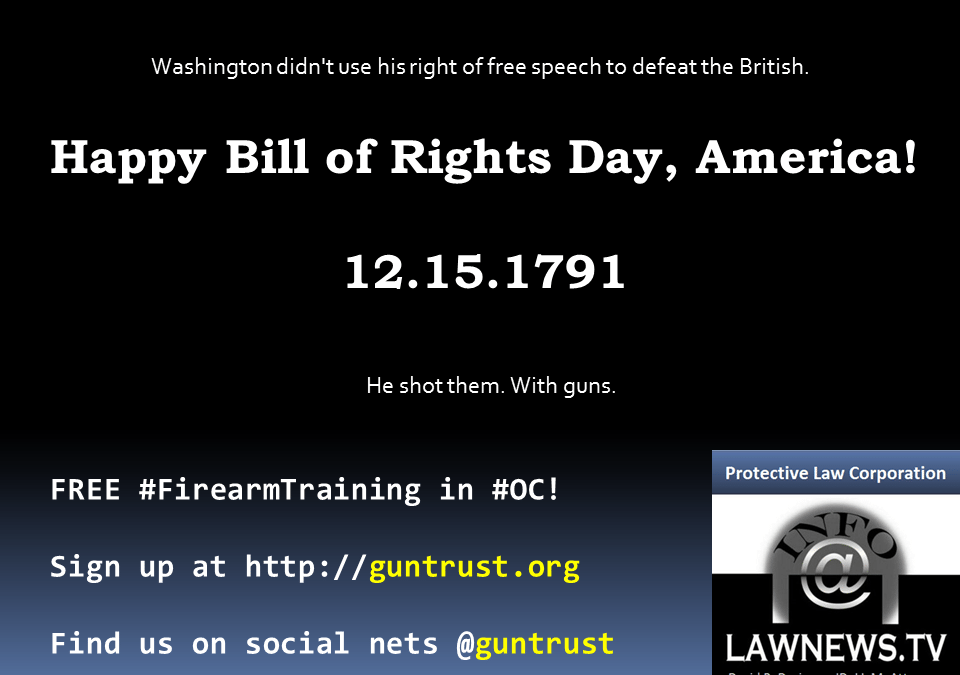 Happy Bill of Rights Day!
